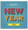 Happy new year retro poster vector