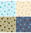 Collection of mosaic tile seamless patterns vector