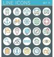 Travel line icons set summer holidays web design vector