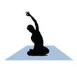Yoga woman vector