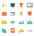 Finance exchange icons flat vector