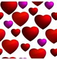 Heart seamless background pattern vector