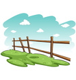 Green grasses near the fence vector