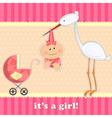 Girl birthday card vector