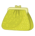 Purse with patterns vector