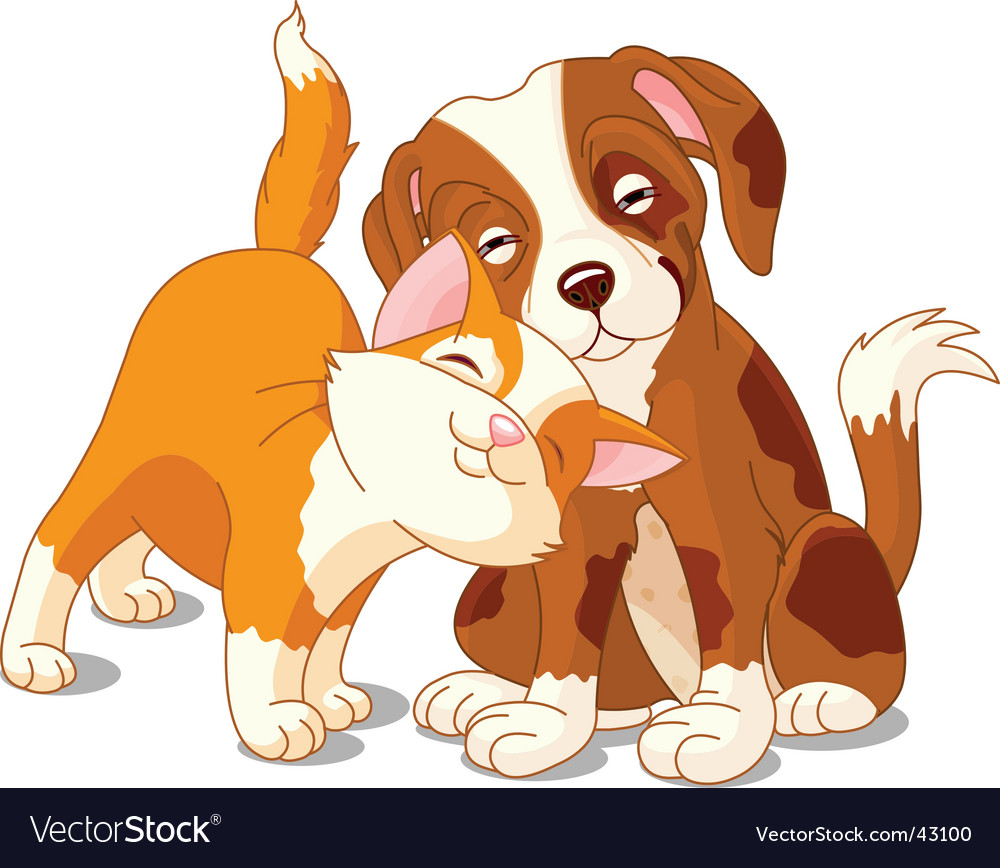 Cat and dog vector | Price: 3 Credit (USD $3)