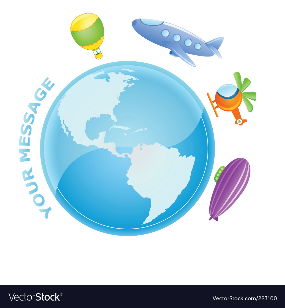 Flying world vector | Price: 1 Credit (USD $1)