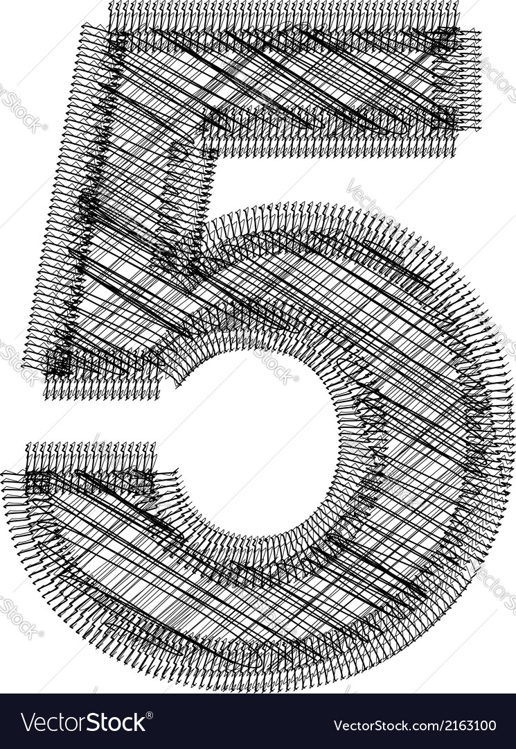 Font number 5 vector | Price: 1 Credit (USD $1)