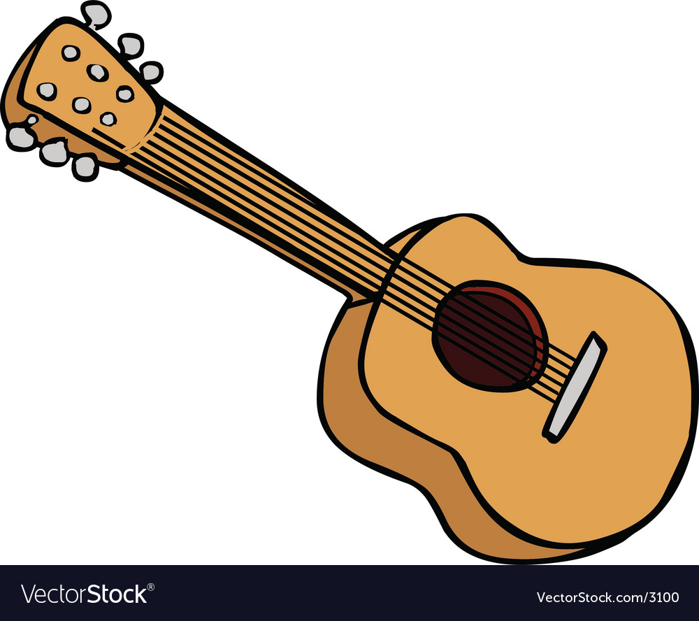 Guitar instrument vector | Price: 1 Credit (USD $1)