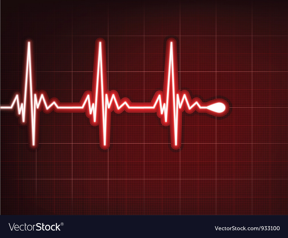 Heart cardiogram background vector | Price: 1 Credit (USD $1)