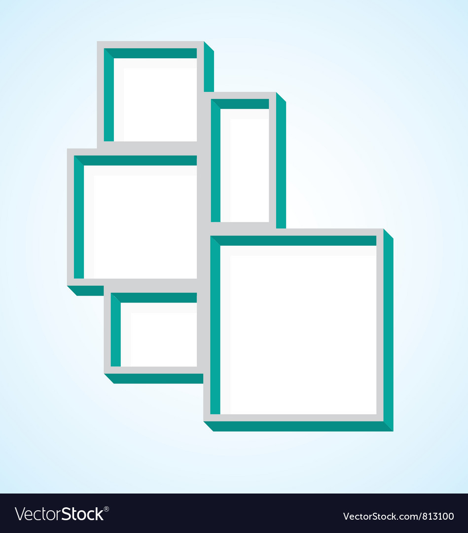 Picture frame collage vector | Price: 1 Credit (USD $1)