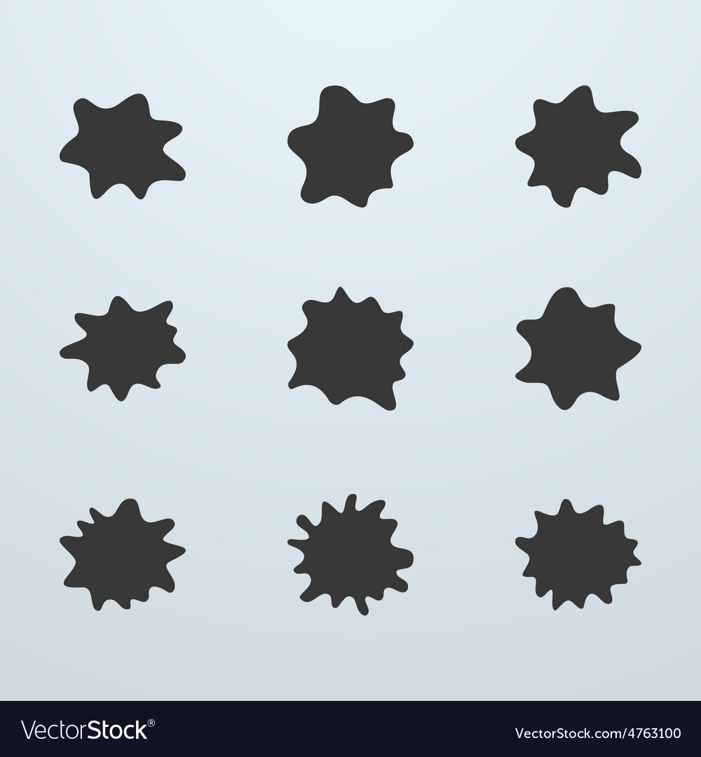 Set of blots or blobs vector | Price: 1 Credit (USD $1)