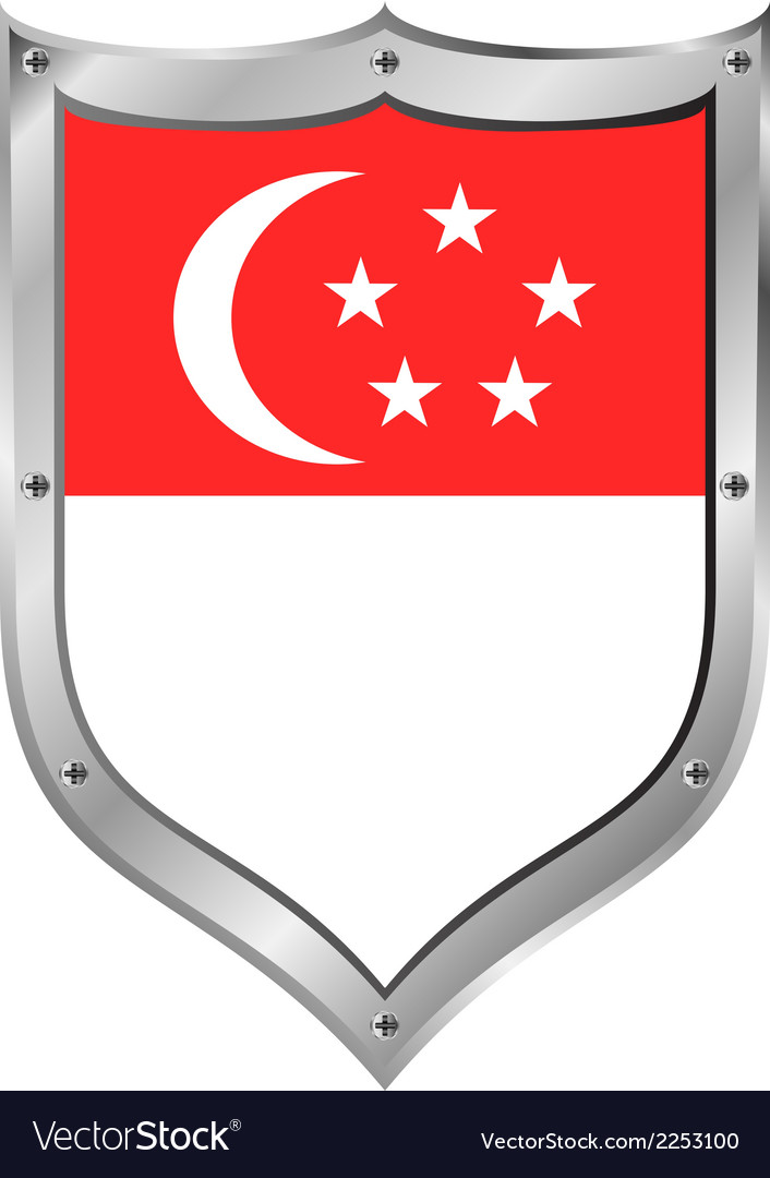 Singapore flag button vector | Price: 1 Credit (USD $1)