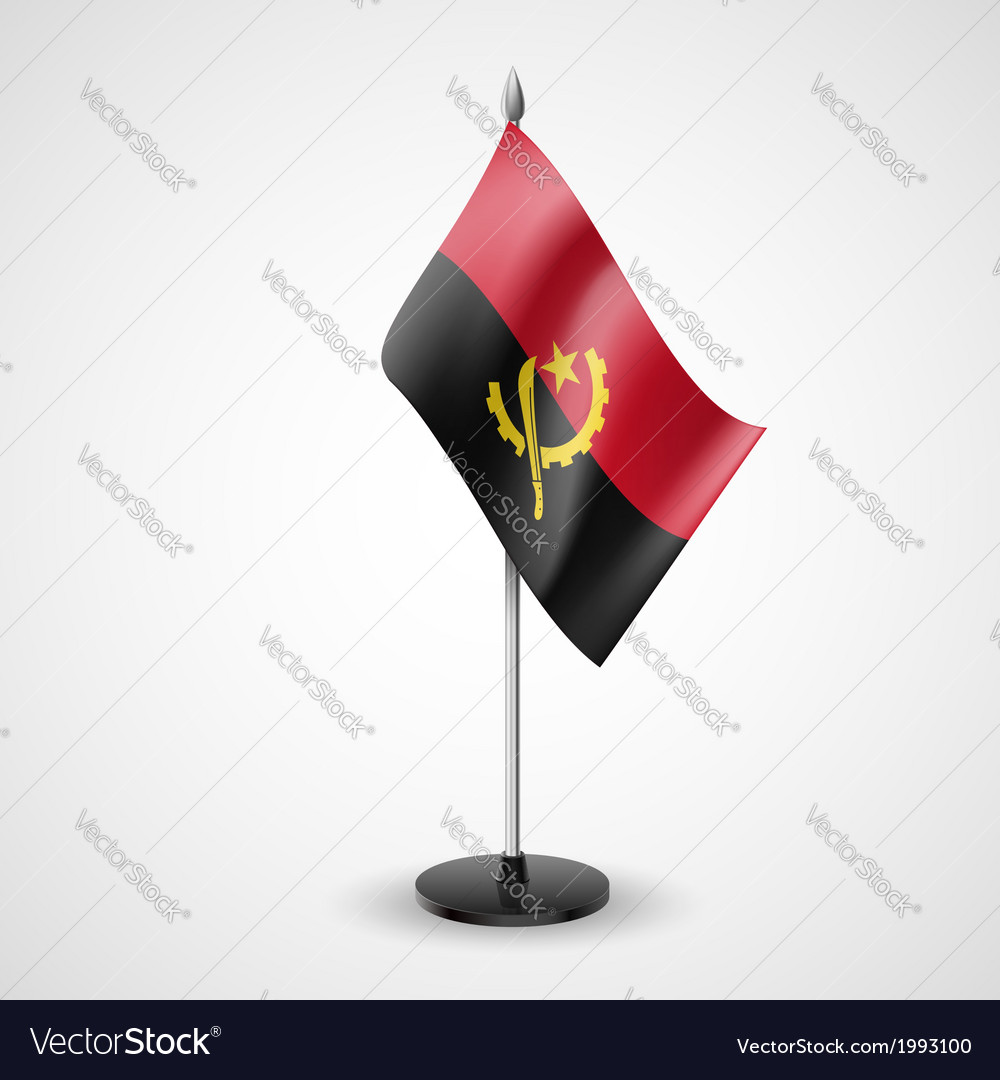 Table flag of angola vector | Price: 1 Credit (USD $1)