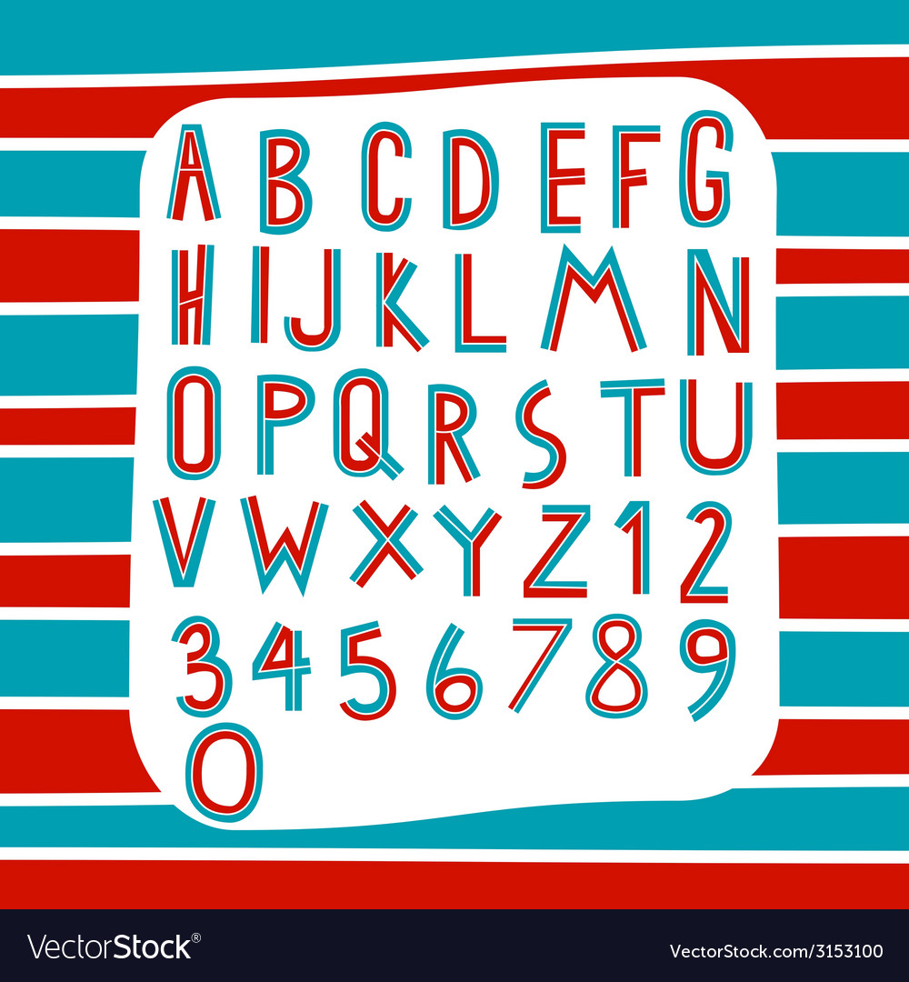 Two tone alphabet vector | Price: 1 Credit (USD $1)
