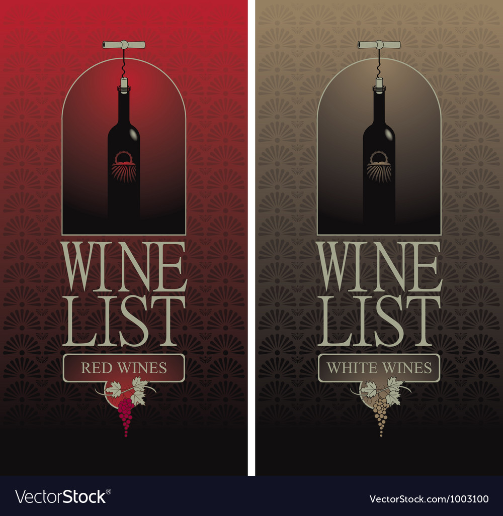 Wine list vector | Price: 3 Credit (USD $3)