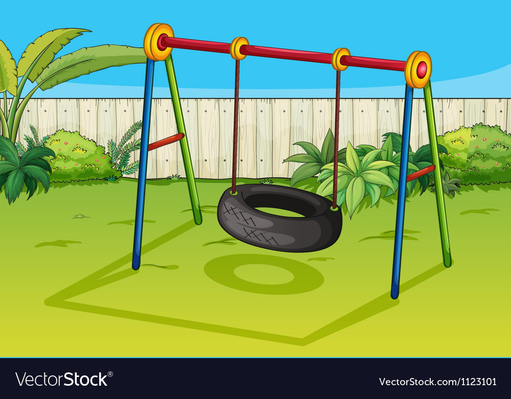 A swinging tyre vector | Price: 1 Credit (USD $1)