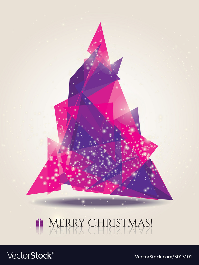 Abstract christmas card with modern elements vector | Price: 1 Credit (USD $1)