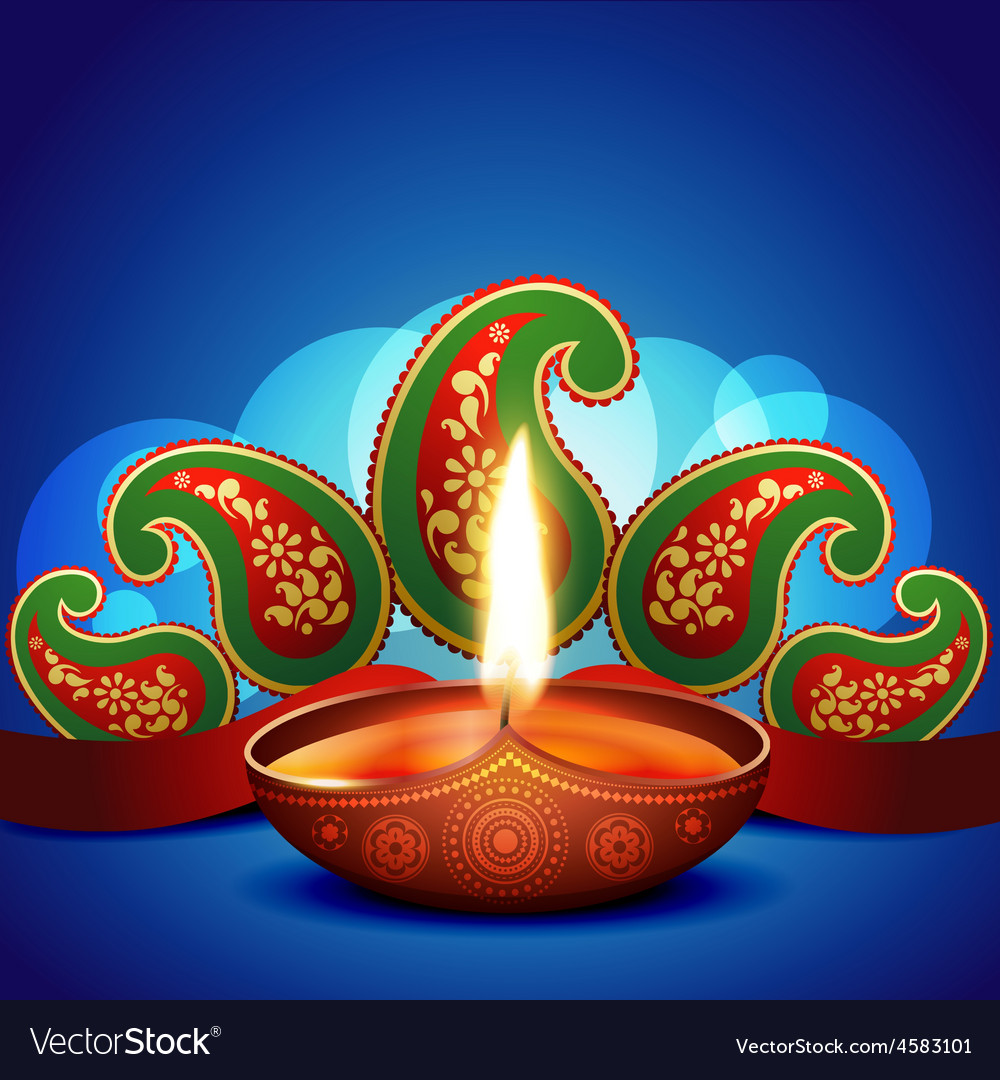 Artistic diwali background vector | Price: 1 Credit (USD $1)