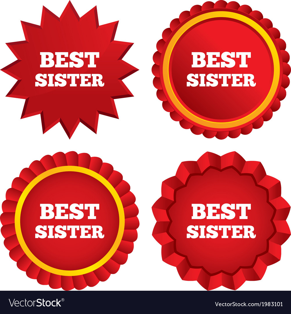 Best sister sign icon award symbol vector   Price: 1 Credit (USD $1)