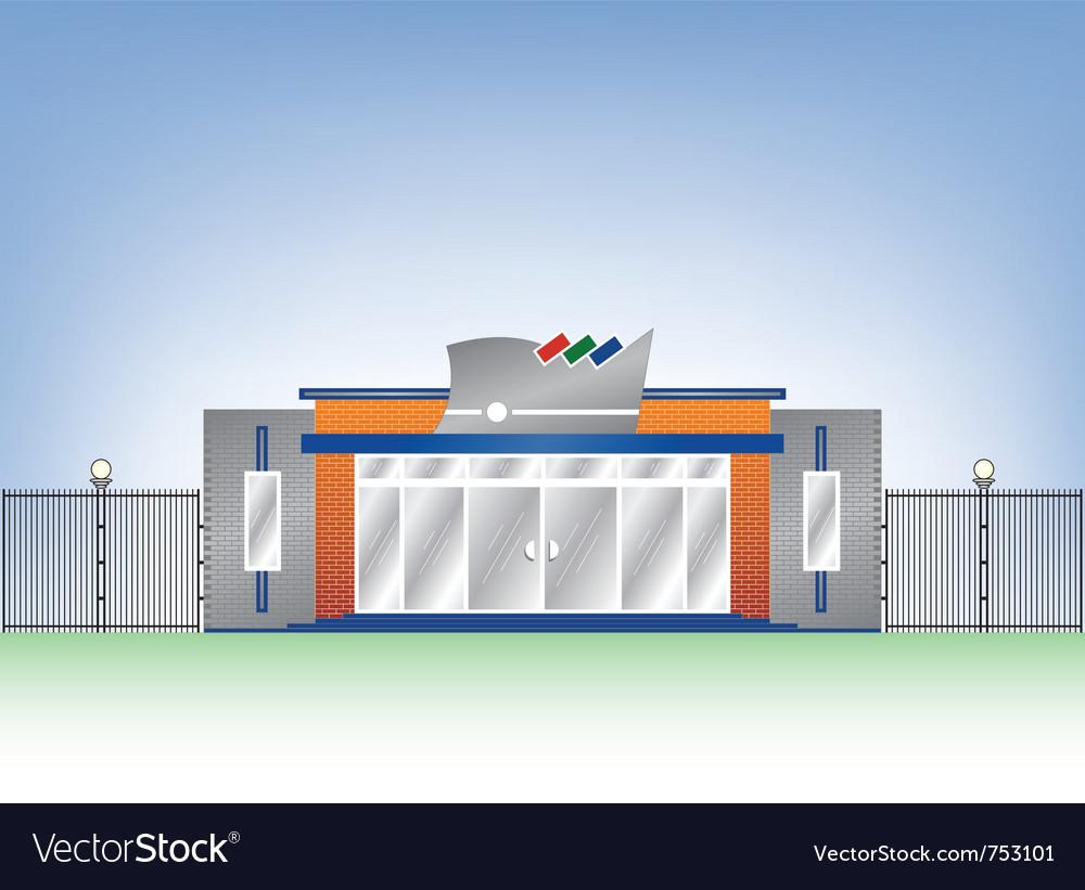 Building industrial facade vector   Price: 1 Credit (USD $1)