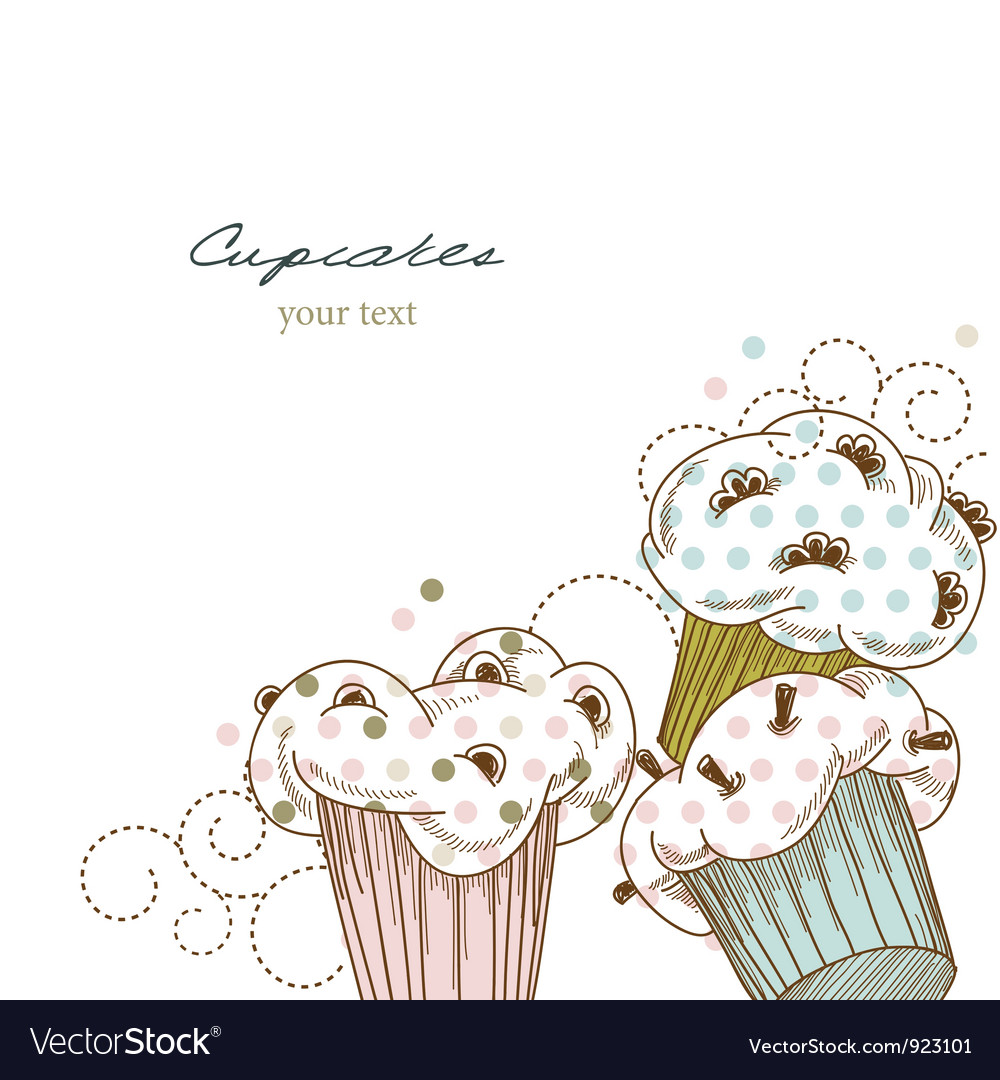 Cupcakes corner vector | Price: 1 Credit (USD $1)