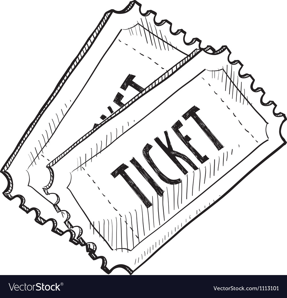 Doodle tickets vector | Price: 1 Credit (USD $1)
