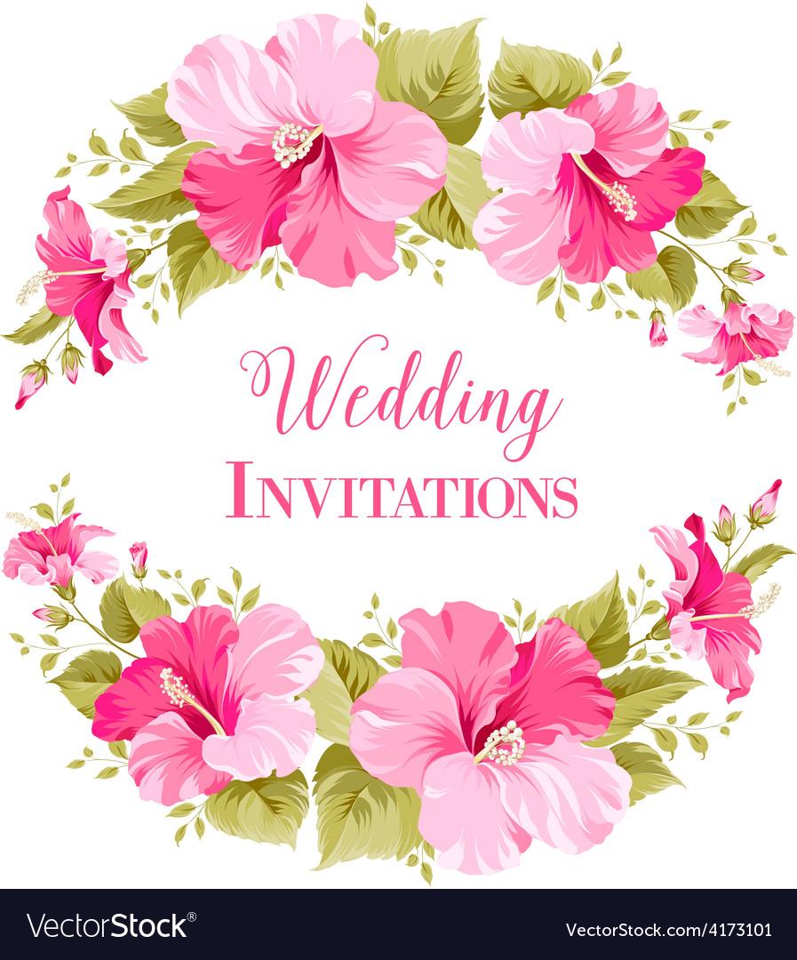 Marriage invitation card vector | Price: 3 Credit (USD $3)