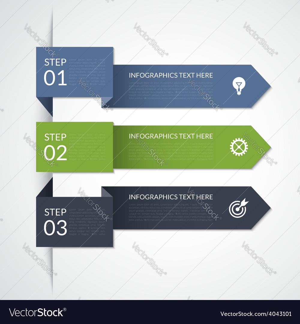 Modern arrow infographic elements vector | Price: 1 Credit (USD $1)