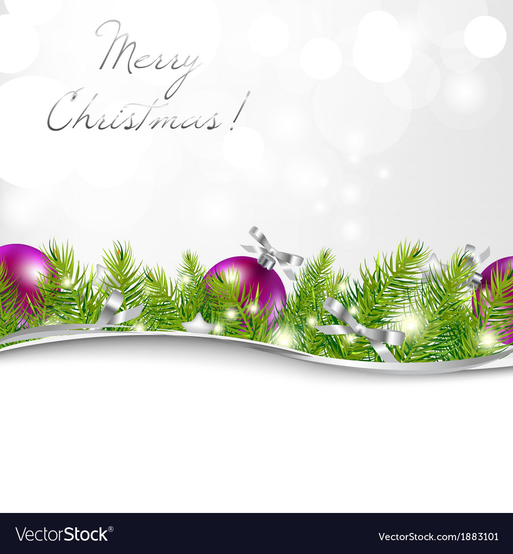 New year card with garland and ball vector | Price: 1 Credit (USD $1)