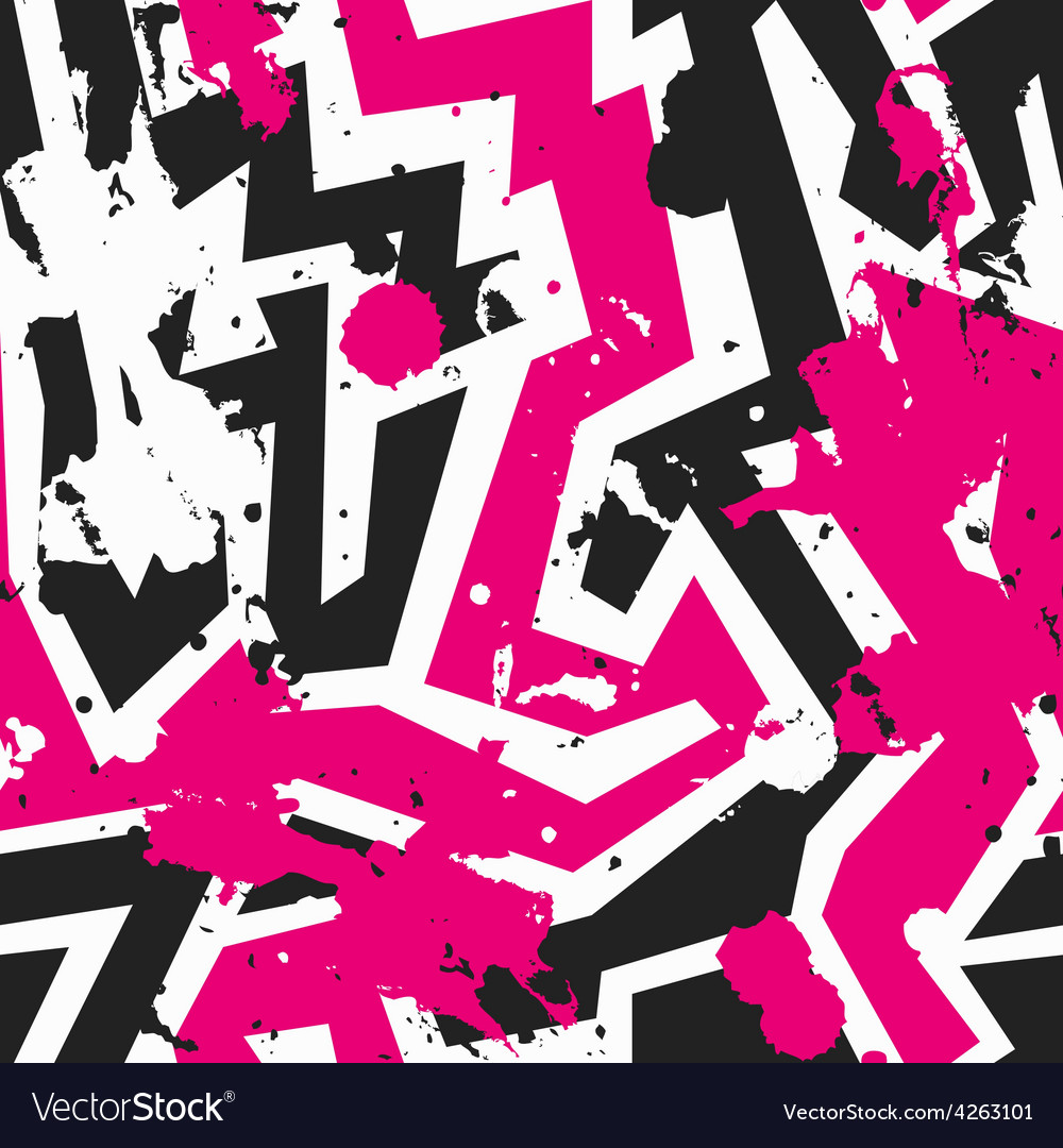 Pink maze seamless pattern with blot effect vector   Price: 1 Credit (USD $1)