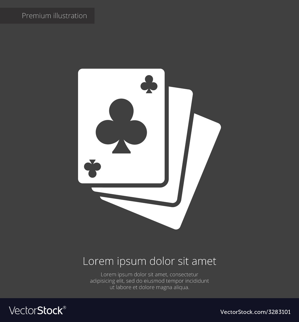 Poker premium icon white on dark background vector | Price: 1 Credit (USD $1)