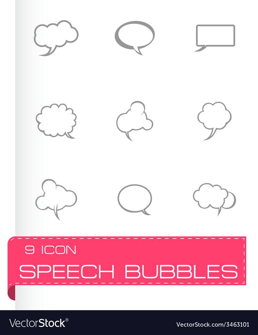 Speech bubbles icon set vector | Price: 1 Credit (USD $1)