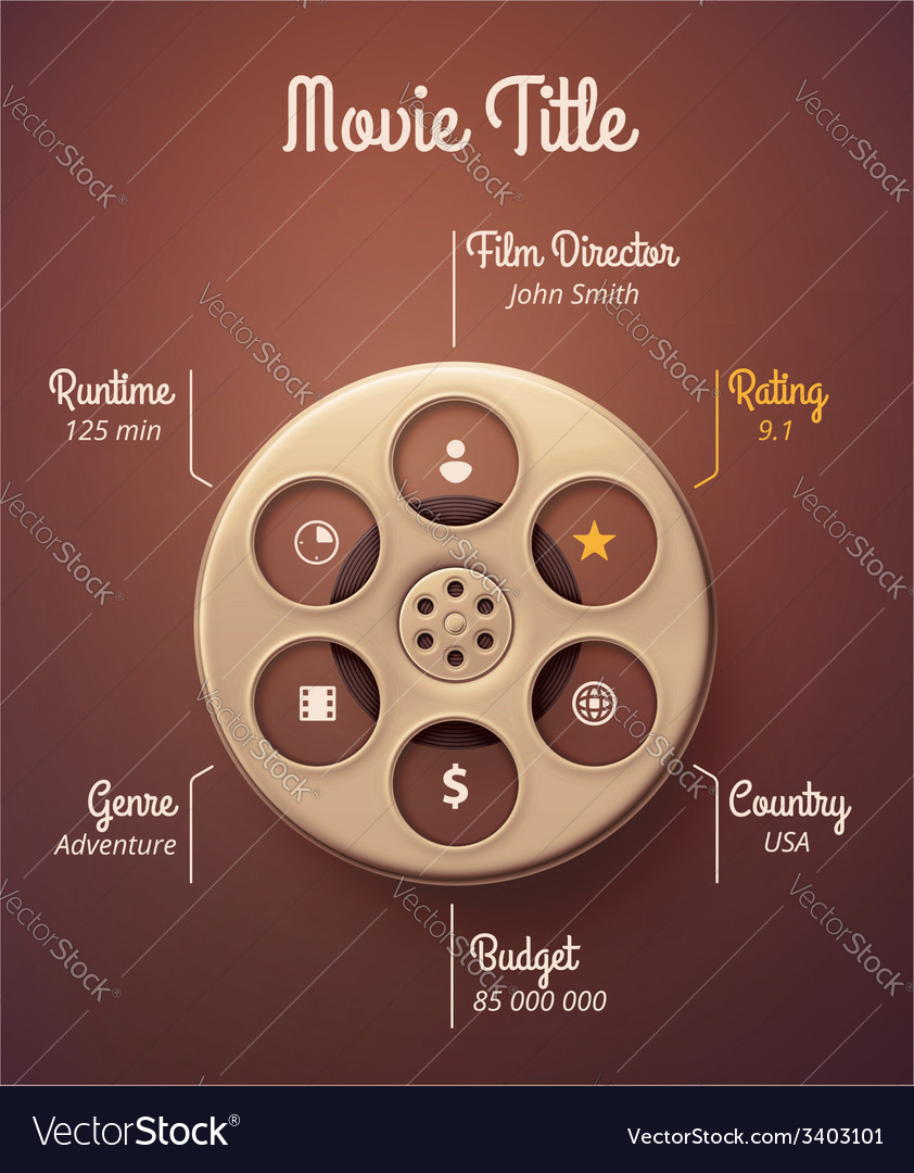Statistics movie vector | Price: 1 Credit (USD $1)