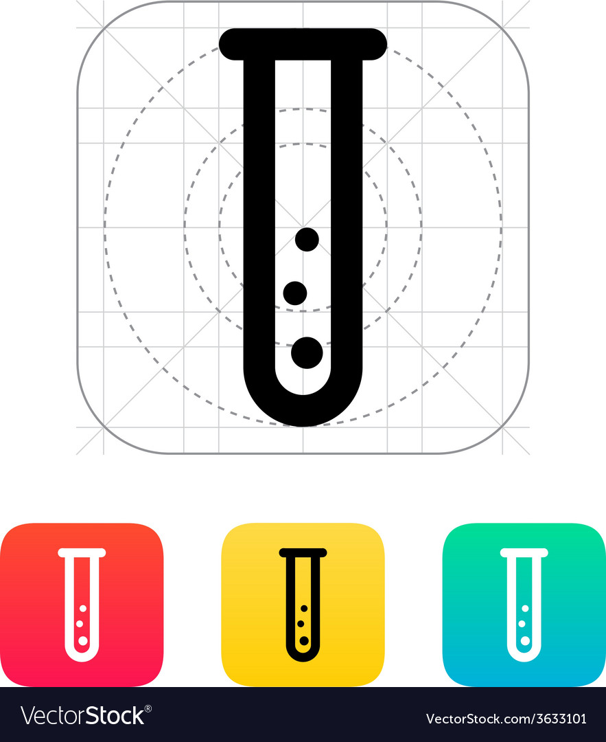 Test tube with gas icon vector | Price: 1 Credit (USD $1)