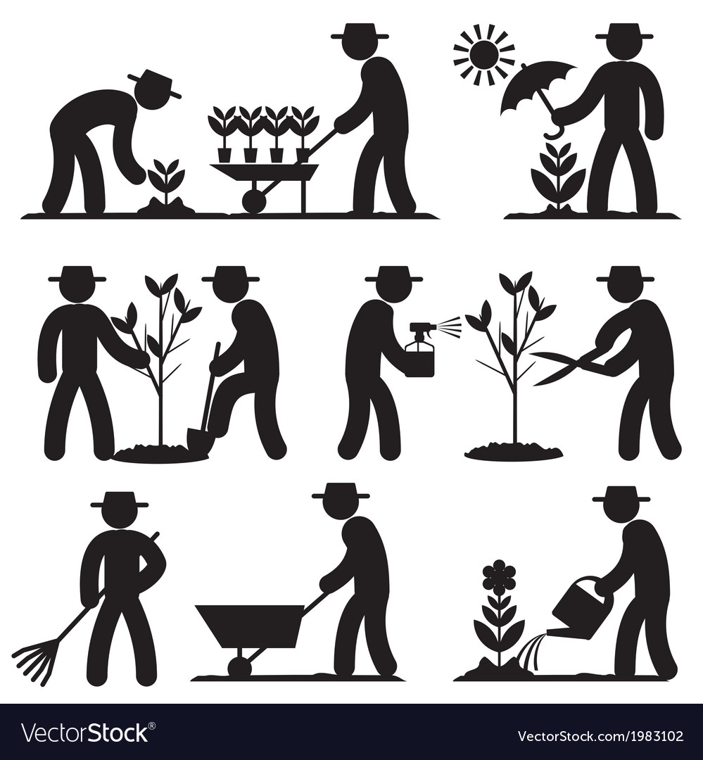 Agro people icons vector | Price: 1 Credit (USD $1)