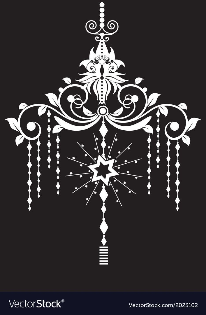 Chandelier design vector | Price: 1 Credit (USD $1)