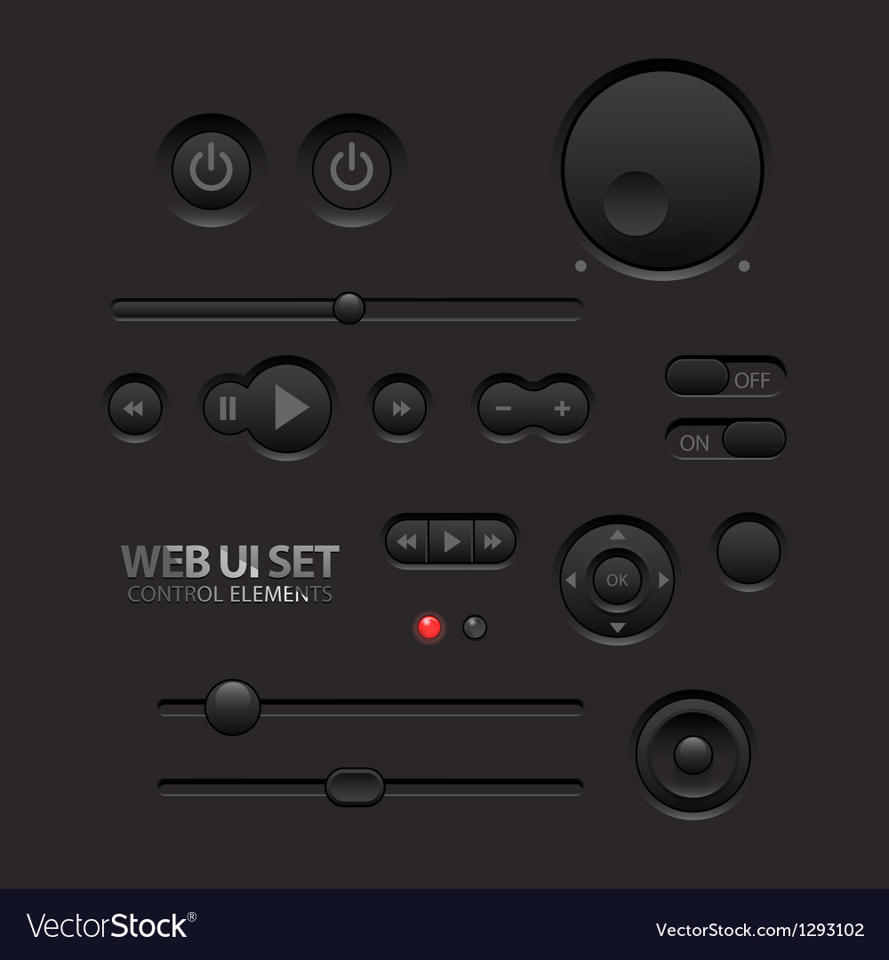 Dark web ui elements vector | Price: 1 Credit (USD $1)