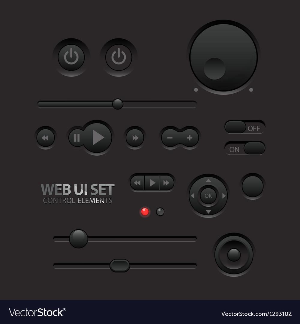 Dark web ui elements vector | Price: 1 Credit (USD $1)