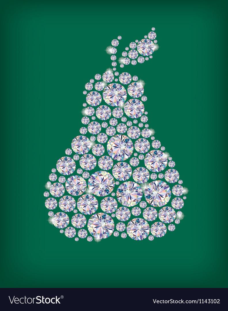 Diamond pear vector | Price: 1 Credit (USD $1)