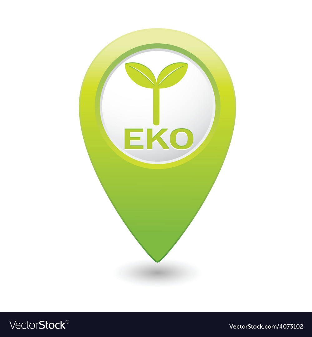 Eco green map pointer vector