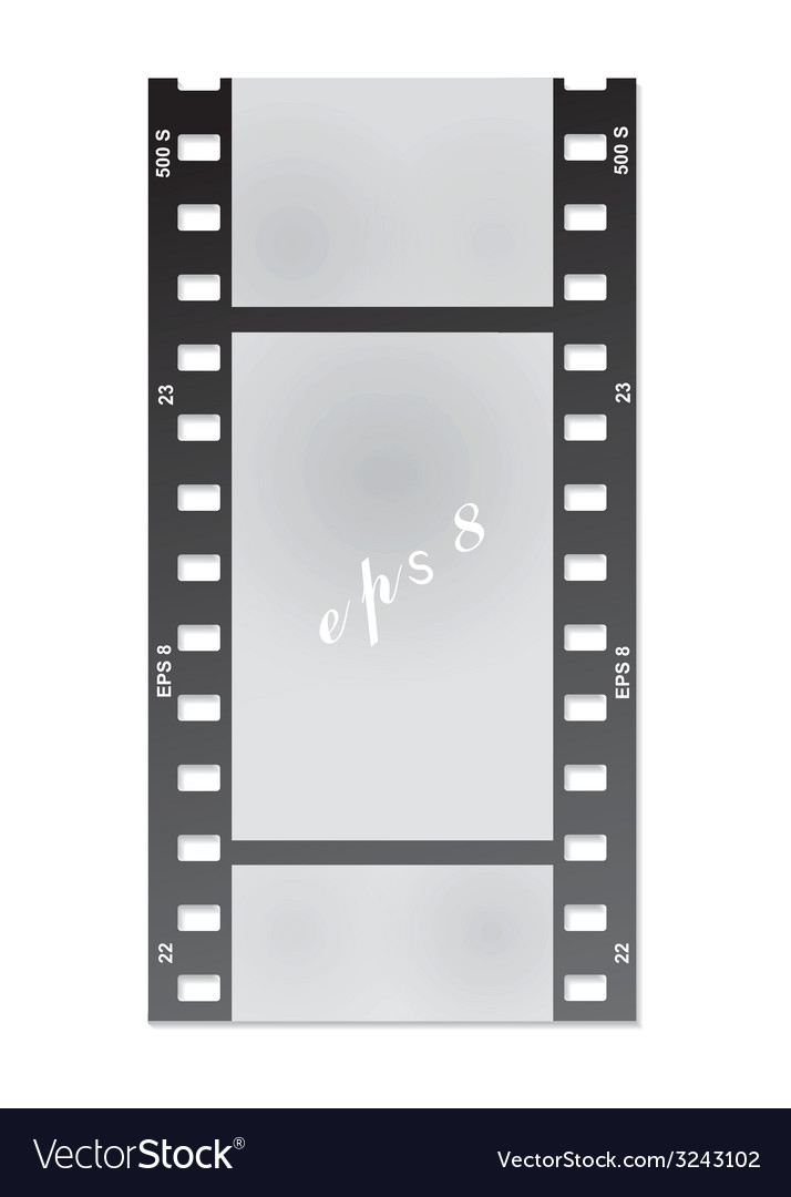 Film for the photo on a white background vector | Price: 1 Credit (USD $1)