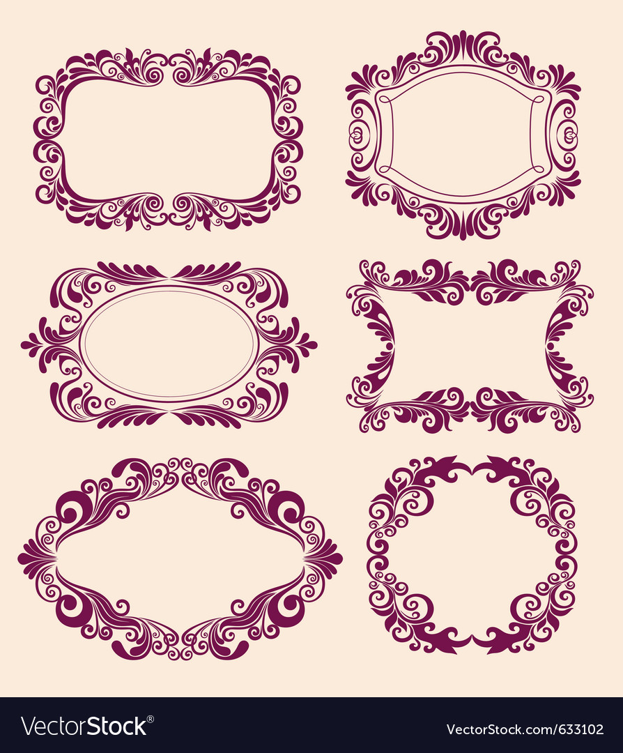 Floral pattern border vector | Price: 1 Credit (USD $1)