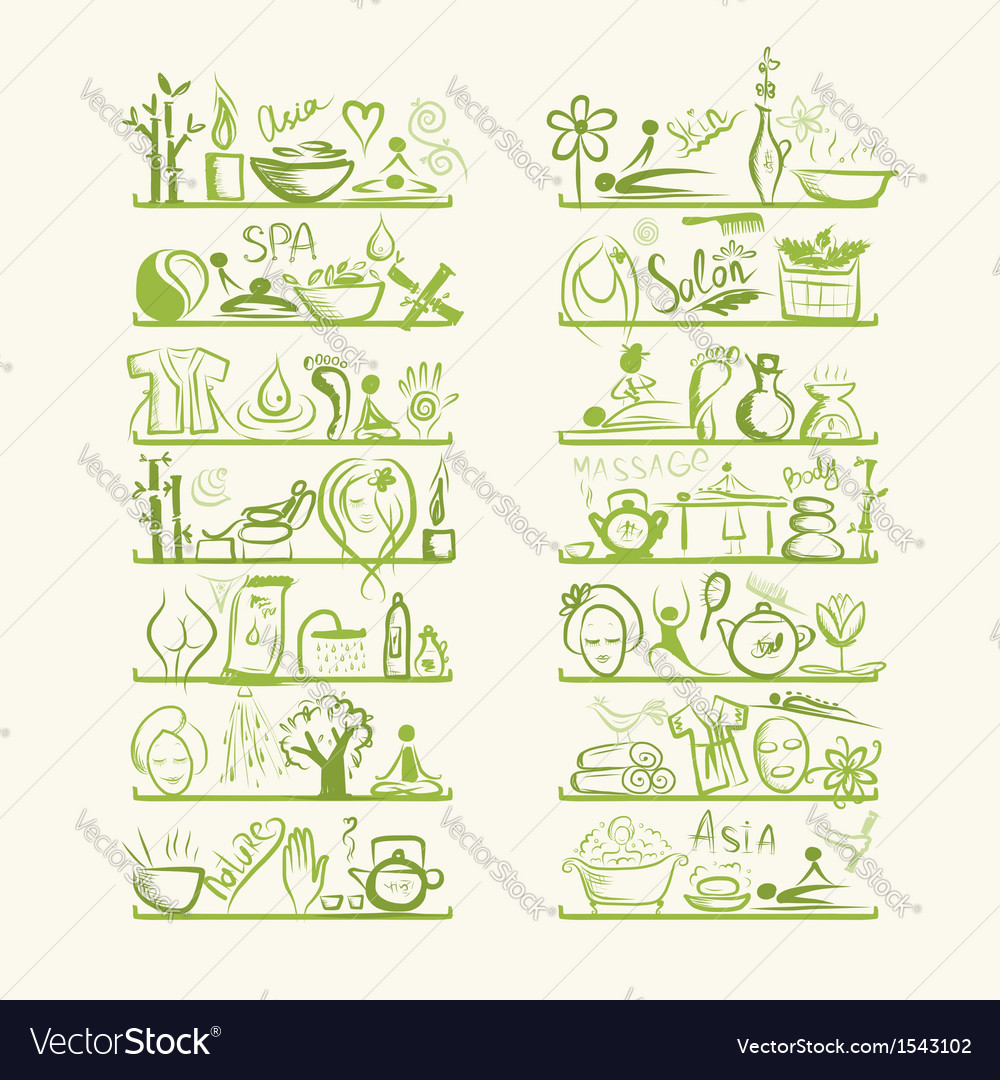 Massage and spa concept background for your design vector | Price: 1 Credit (USD $1)