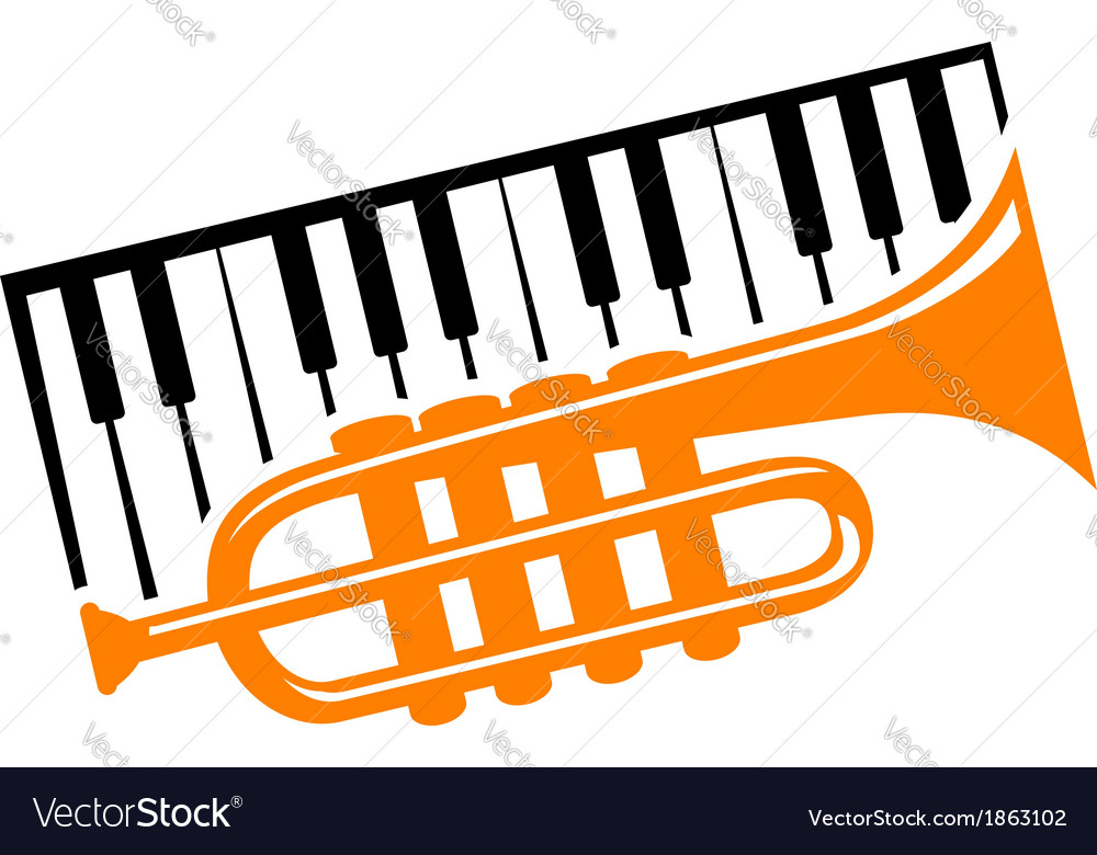 Piano and trumpet vector | Price: 1 Credit (USD $1)
