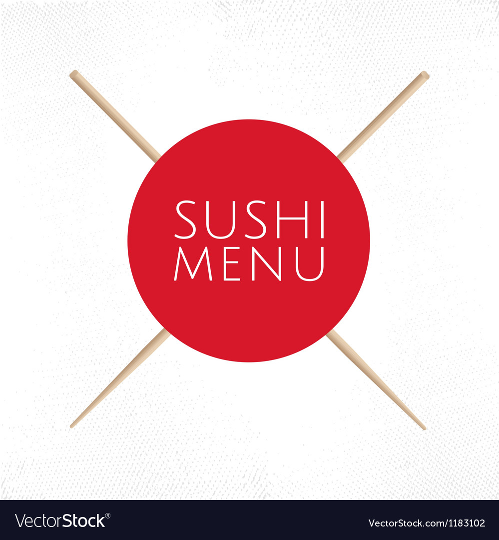 Sushi menu cover template vector | Price: 1 Credit (USD $1)