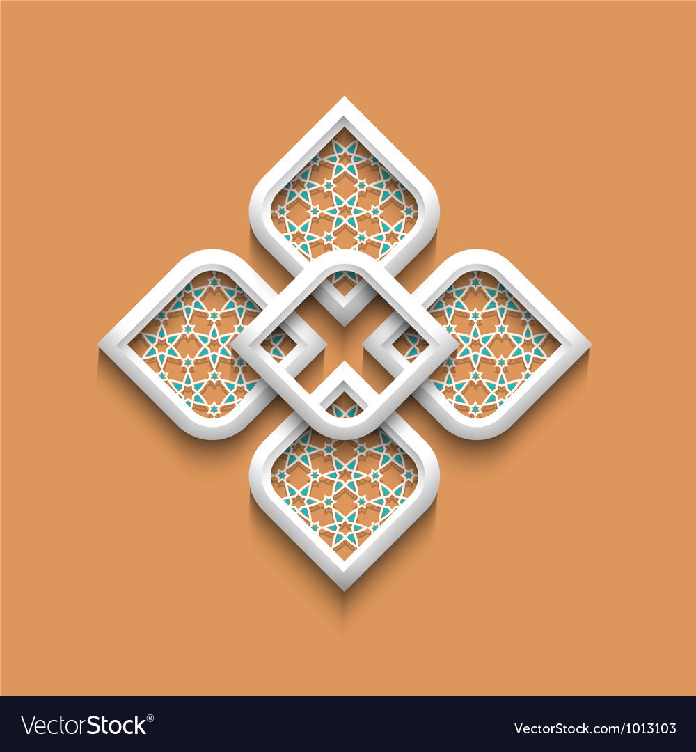 3d elegant pattern in arabic style vector | Price: 1 Credit (USD $1)