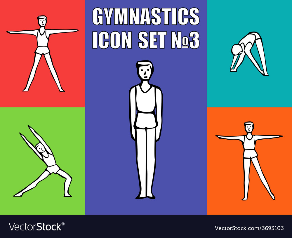 Boy gymnast athlete performs a variety exercises vector | Price: 1 Credit (USD $1)