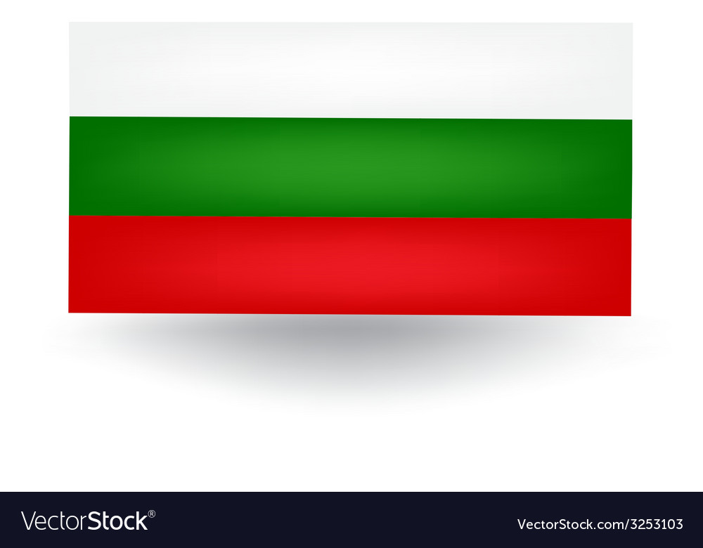 Bulgarian flag vector | Price: 1 Credit (USD $1)
