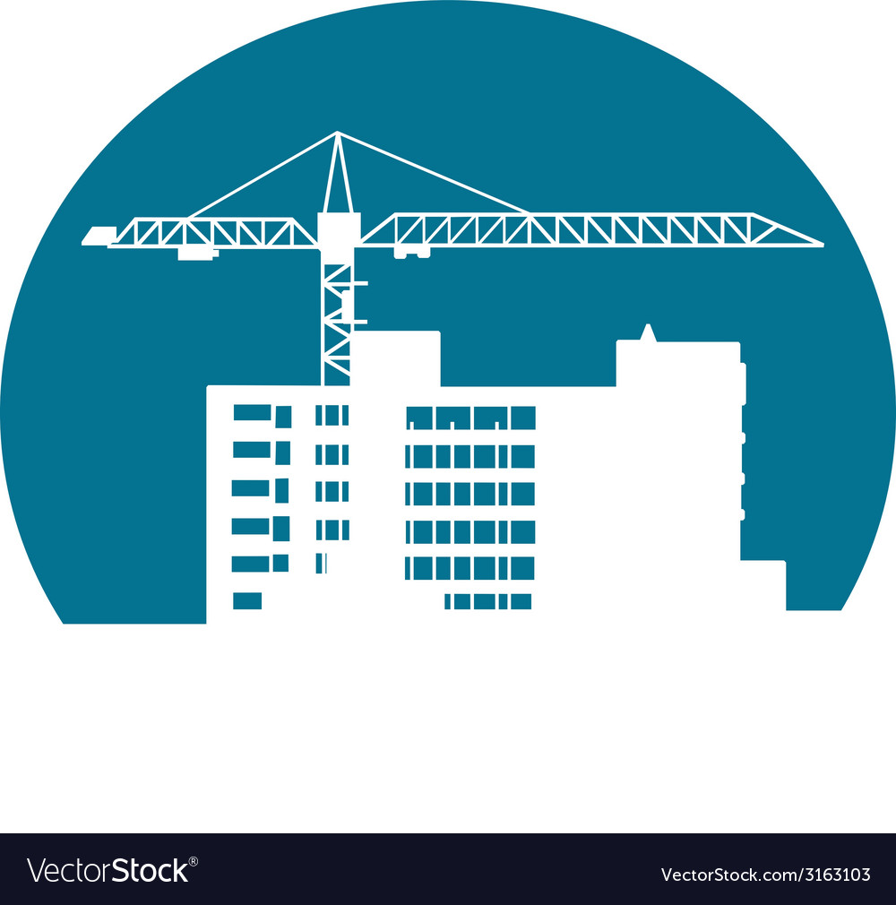 Construction building vector | Price: 1 Credit (USD $1)